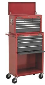 SEALEY AMERICAN PRO AP22513BB TOOL CHEST TOP BOX & ROLER CABINET 13 DRAWER
