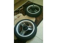 Anti puncture icandy back wheels