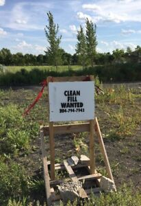 Clean Fill Wanted near Grand Point