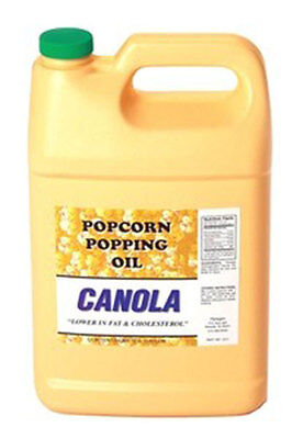 Popcorn Popping Canola Oil 1017 One Gallon Concession Supplies