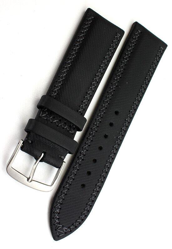 22mm /20 original ETERNA genuine Leder Uhrenarmband Handmade Band Kreuznaht