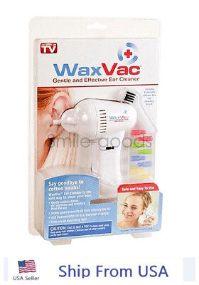 WaxVac Ear Cleaner Wax Remover Wax Vac As Seen On TV Brand New Sealed US