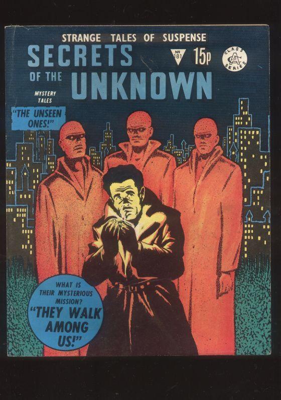Strange Tales of Suspense Secrets of the Unknown 181 60s reprint comics  CBX13A