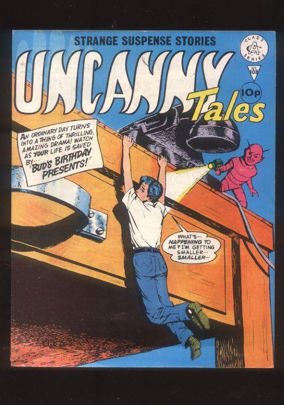 Uncanny Tales 108 Strange Suspense Stories British Comic 60s reprint CBX13A