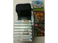 DS Lite Console & 10 games, New super Mario Bros and Lego games