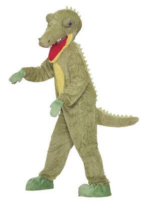 What A Croc Plush Adult Costume Mascot Crocodile Creature Men Women Standard - Crocodile Adult Costume