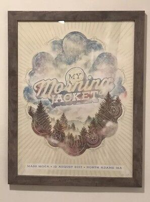 My Morning Jacket SOLD OUT Signed Poster MASS MoCA A. Powers 8.12.2017 NUMBERED