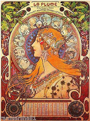 La Plume Vintage French Nouveau France Poster Print Art Advertisement