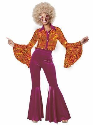 Disco Costumes Women (WOMEN'S FUNKY DISCO DIVA COSTUME SIZE MEDIUM)