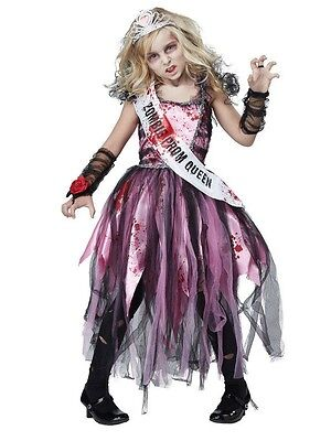 CHASING FIREFLIES GIRL'S ZOMBIE PROM QUEEN HALLOWEEN COSTUME-SIZE 10/12-NEW