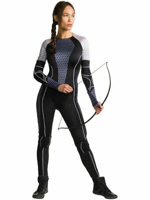 NEW KATNISS EVERDEEN The Hunger Games Catching Fire Adult Halloween Costume M