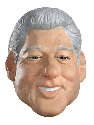 WILLIAM BILL CLINTON 42ND U.S PRESIDENT MASK ADULT HALLOWEEN COSTUME ACCESSORY ](Bill Clinton Halloween Costume)