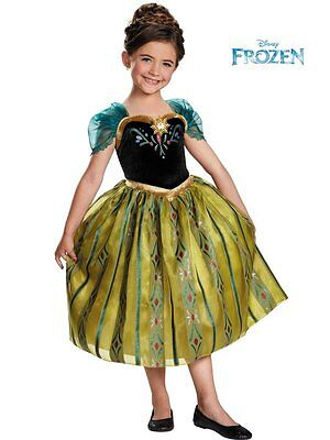 Anna Costume Medium 7/8 Girls Frozen Anna Costume DELUXE Disney Frozen NEW - Anna Deluxe Costume