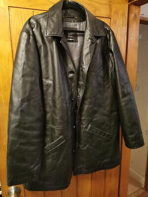 1860 Menswear Leather Jacket Black Size XL
