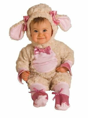 Halloween Costume_Lamb_Infant Baby Girl_Pink w/ off-white fleece_Sz 12-18 months