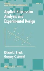 Applied Regression Analysis and Experimental Design (Statistics:  A-ExLibrary