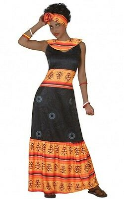 Kostüm Frau afrikanischer m / l 40/42 Menschen in der Monde Land neu billig (Der Land Frau Kostüme)