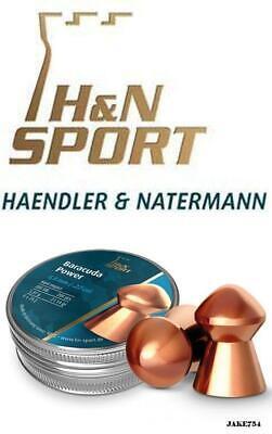 H&N Baracuda Power, .22 Cal, 21.14 Grains, Round Nose, 200 ct  # 92065500003 (Grain Round Nose Pellet)