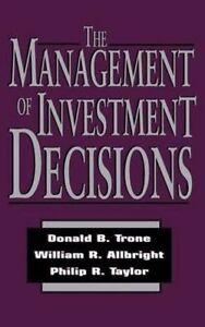 The Management of Investment Decisions-ExLibrary