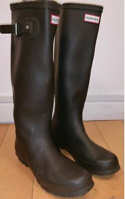 Hunter Original Tall Womens Wellington Boots Wellies - COFFEE/BROWN MATT