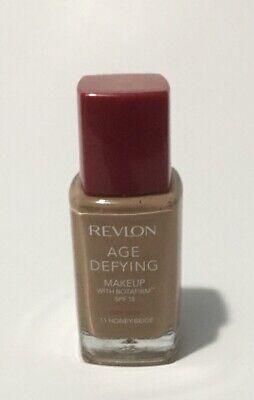 Revlon Age Defying Liquid Makeup Foundation HONEY BEIGE #11 Liquid Makeup Honey