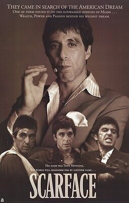 SCARFACE MOVIE POSTER ~ CAME IN SEARCH 22x34 Al Pacino Brian De Palma