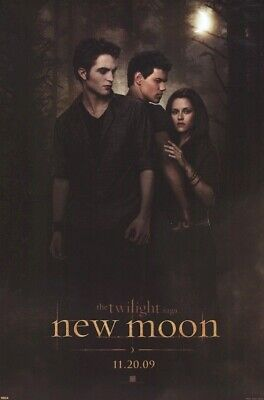 TWILIGHT MOVIE POSTER ~ NEW MOON ADV TRIO 24x36 Saga Pattinson Taylor Lautner