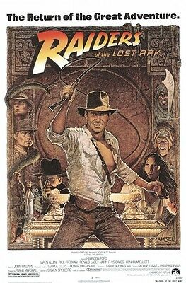 Indiana Jones   Raiders Of Lost Ark 1982 27X40 Movie Poster Harrison Ford Amsel