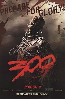 300 MOVIE POSTER ~ XERXES PROMO ORIGINAL 24x36 Rodrigo Santo