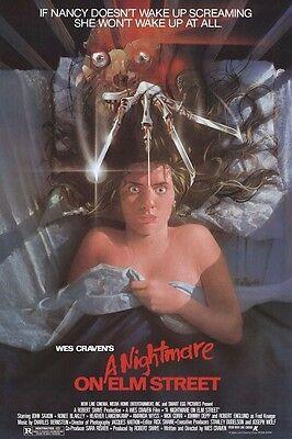 A NIGHTMARE ON ELM STREET 1 (1984) ~ 27x40 MOVIE POSTER ~ Freddy Krueger