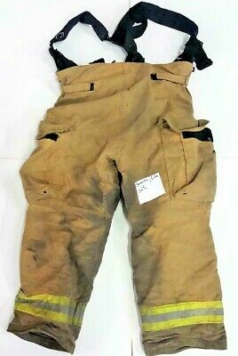 36x27 36r Firefighter Pants Bunker Turnout Janesville Lion W Suspenders P0111