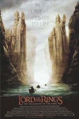 LORD OF THE RINGS ~ FELLOWSHIP STATUES 27x40 MOVIE POSTER Advance Argonath