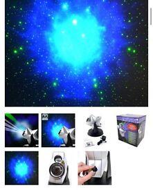 Laser starlight projector