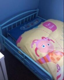 Blue kids bed AND mattress