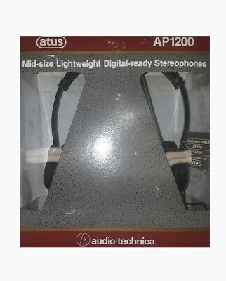 Atus AP1200 Lightweight Digital-ready Stereophones by Audio Technica (New!) Audio Technica Lightweight Headphone