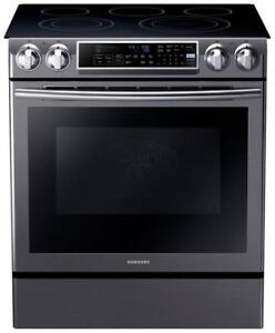 "Samsung NE58K9500SG 30"" Slide-In Smooth Top Electric Range Self Clean Convection"