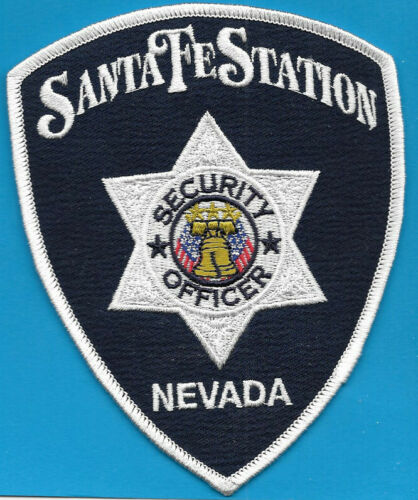 SANTA FE STATION NV NEVADA SECURITY OFFICER LIBERTY BELL CROSS FLAGS (FIRE)