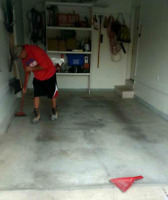 Concrete floor repair and coating