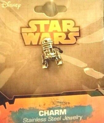 Star Wars Disney Lucasfilms R2d2 Charm Bead Fits For European Style Bracelet New