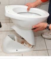 Toilet installation and repair, same day service .
