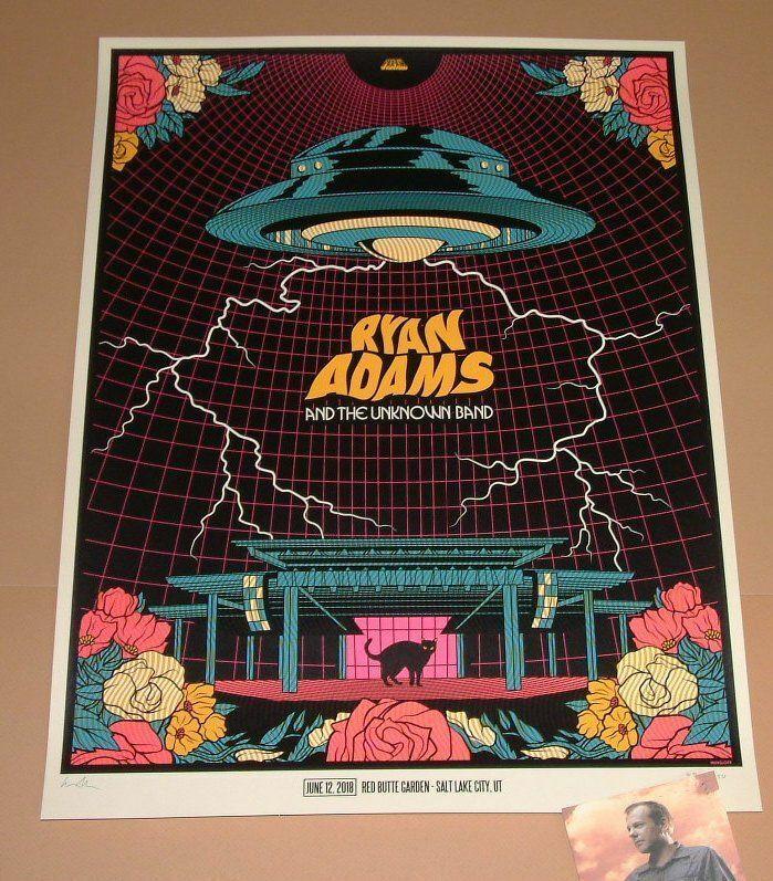 Ryan Adams Ivan Minsloff Salt Lake City Poster Print Signed Numbered Art 2018
