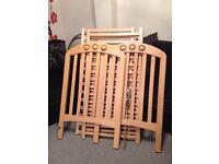 Mamas & Papas Amelia Wooden Cot / Crib in Beech - in Good Condition