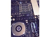 Pioneer CDJ 2000 Nxs djm900 nexus setup, with Ethernet switch and cases