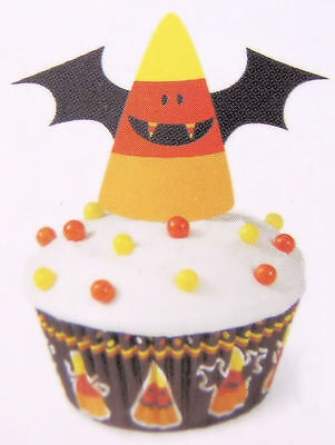 Candy Corn Bat Halloween Cupcake Decorating Kit from Wilton 3174 NEW