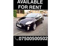 PRIUS T-SPIRIT FOR RENT, FROM £130 P/W PCO PLATED, UBER READY, INSURANCE AVAILABLE