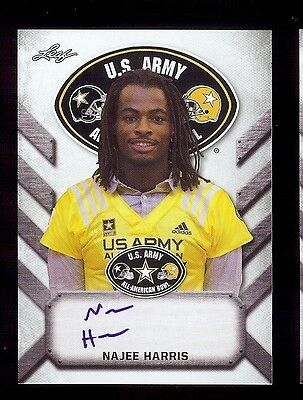 Najee Harris   Alabama Crimson Tide 2017 Leaf Army  Tour  Certified Autograph Rc