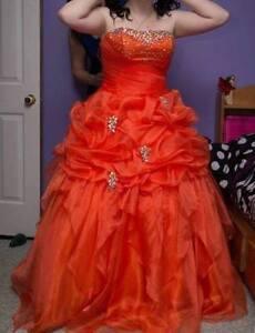 Beautiful Orange Grad Dress