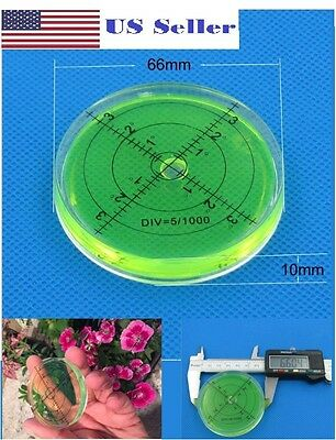 66mm PMMA Spirit Bubble Level Degree Marked Surface Round Circular Measuring Kit