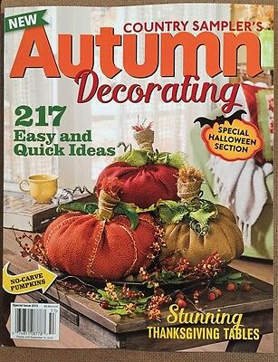 Country Sampler's Autumn Decorating Ideas Halloween Spec 2015 FREE - Autumn Decorating Ideas