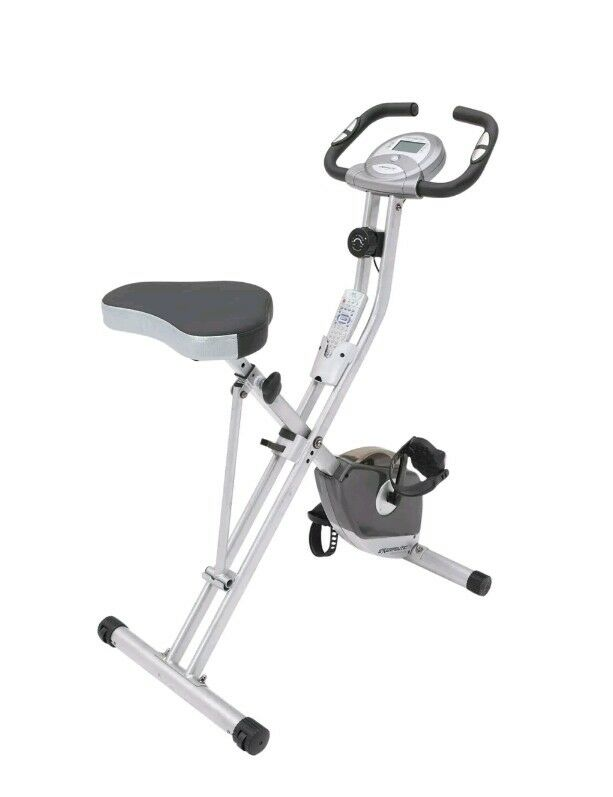 Exerpeutic Folding Magnetic Upright Bike with Pulse 1200